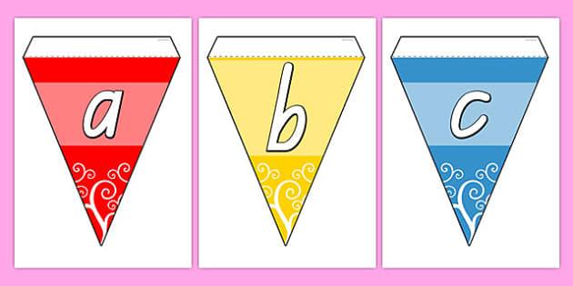Multicolour Alphabet Bunting TAS - australia, alphabet, bunting
