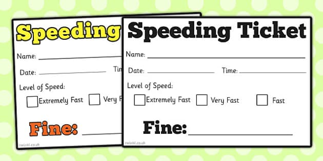 car speeding ticket