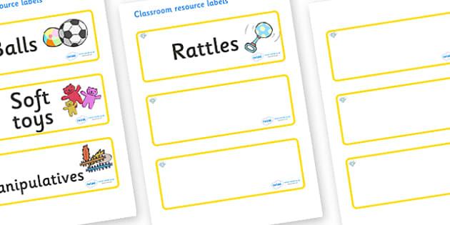 Diamond Themed Editable Additional Resource Labels - Themed Label template, Resource Label, Name Labels, Editable Labels, Drawer Labels, KS1 Labels, Foundation Labels, Foundation Stage Labels, Teaching Labels, Resource Labels, Tray Labels, Printable