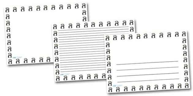 Panda Portrait Page Borders- Portrait Page Borders - Page border, border, writing template, writing aid, writing frame, a4 border, template, templates, landscape