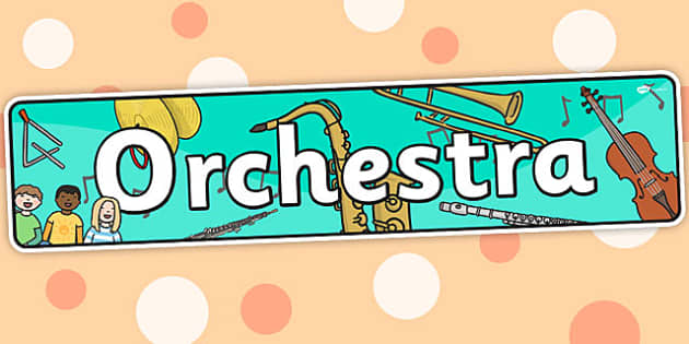 Orchestra Themed Banner - music, header, display, banner