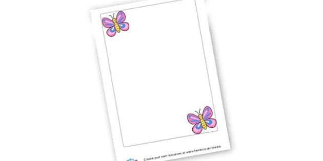 Butterfly Headed paper - display lettering - Minibeasts Writing Frames Primary Resources, minibeast, bugs