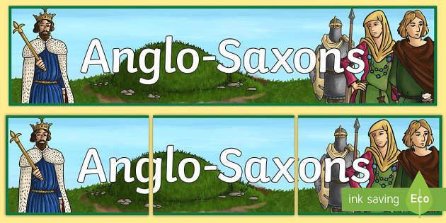 Anglo Saxons Display Banner - anglo saxons, history, banner
