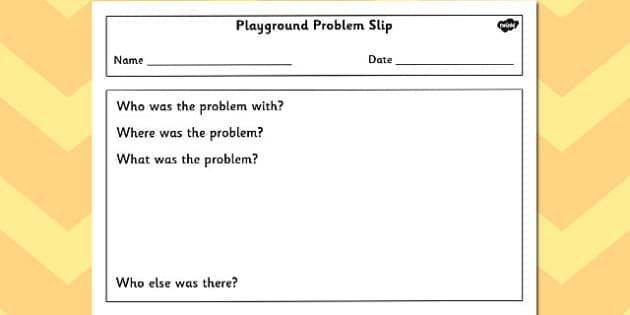 Playground Problem Slip - playground, problem, slip, incident