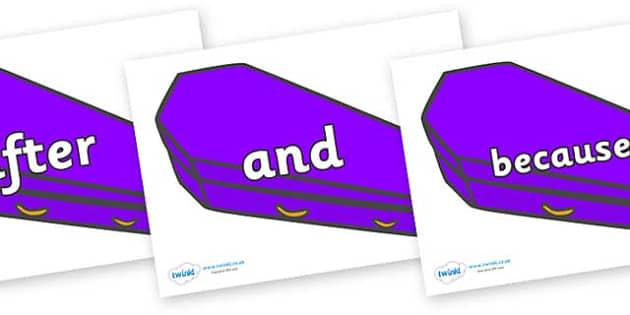 Connectives on Speech Bubbles (Plain) - Connectives, VCOP, connective resources, connectives display words, connective displays