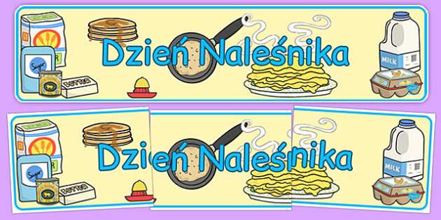 Banner na gazetkę Dzień naleśnikia po polsku - święta