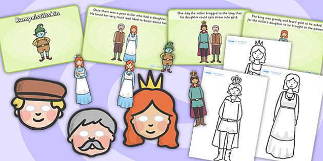 Rumpelstiltskin Story Sack - story sack, story books, story book sack, stories, story telling, childrens story books, traditional tales