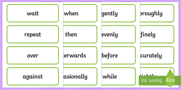 Stage 2 Procedure Language Word Cards - Literacy, english, procedure, writing, language, description, word cards, display cards, Australian