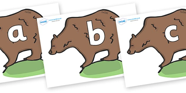 Phoneme Set on Bears - Phoneme set, phonemes, phoneme, Letters and Sounds, DfES, display, Phase 1, Phase 2, Phase 3, Phase 5, Foundation, Literacy