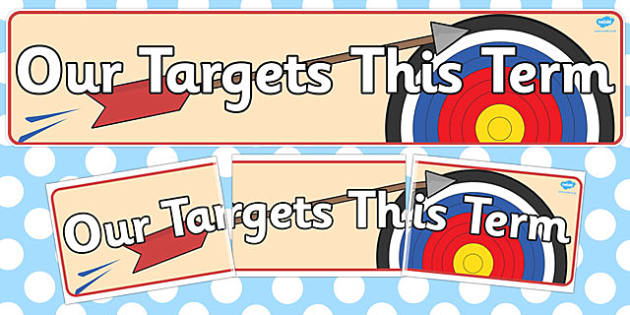 Our Targets this Term Banner - banner, term, targets, this term