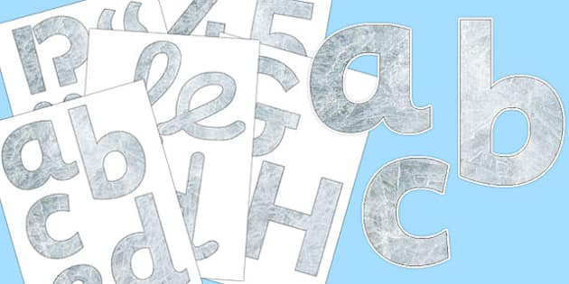Ice Texture Display Letters and Numbers Pack - display, lettering