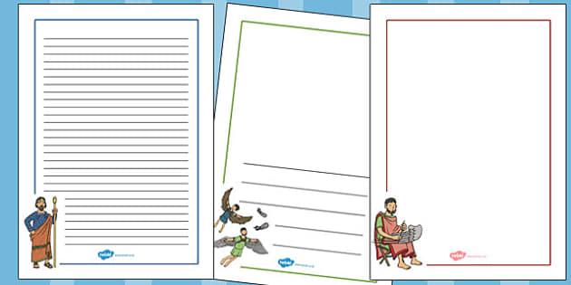 Icarus Page Borders - icarus, page borders, page, borders, greek