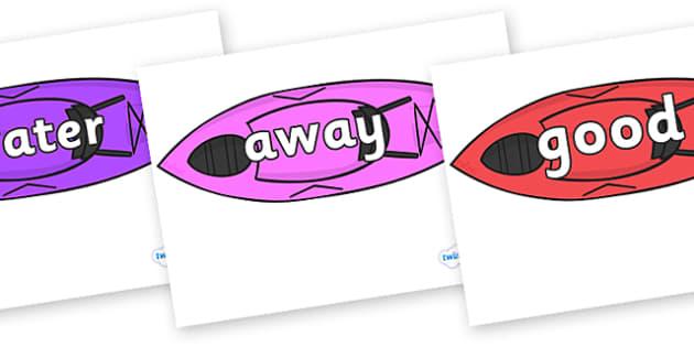 Next 200 Common Words on Kayaks - Next 200 Common Words on  - DfES Letters and Sounds, Letters and Sounds, Letters and sounds words, Common words, 200 common words