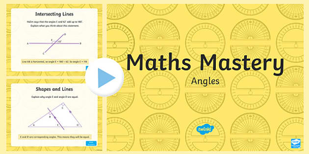 Year 6 Geometry Shape Angles Maths Mastery Activities PowerPoint