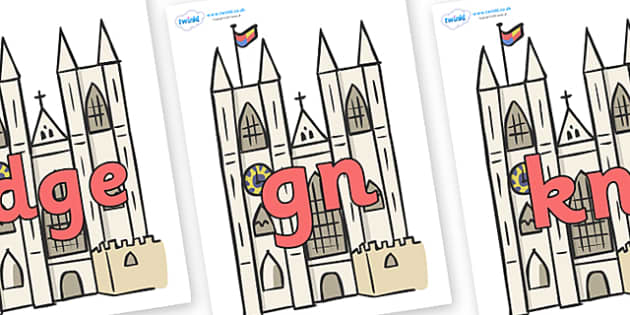 Silent Letters on Cathedrals - Silent Letters, silent letter, letter blend, consonant, consonants, digraph, trigraph, A-Z letters, literacy, alphabet, letters, alternative sounds