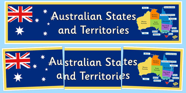 Australian States and Territories Display Banner - australia, States and Territories, display