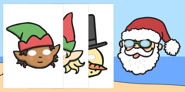 Christmas Role Play Masks - australia, christmas, role play, mask