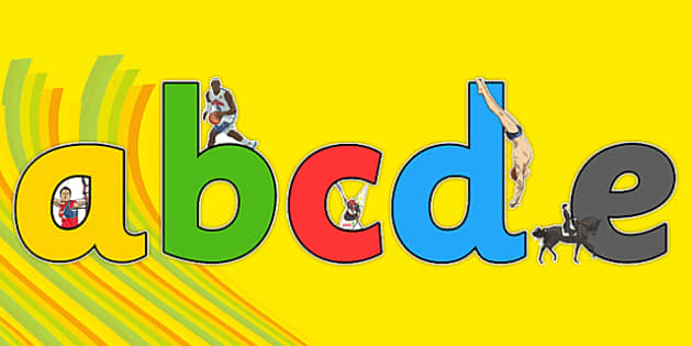 The Olympics Sports Events Display Lettering - Olympics, Olympic Games, sports, Olympic, London, A-Z, A4, display, Alphabet frieze, Display letters, Letter posters, A-Z letters, Alphabet flashcards, 2012, activity, Olympic torch, flag, countries, med