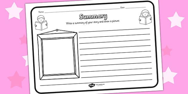 Summary Comprehension Worksheet - summary, comprehension, comprehension worksheet, character, discussion prompt, reading, discussions, summary worksheet