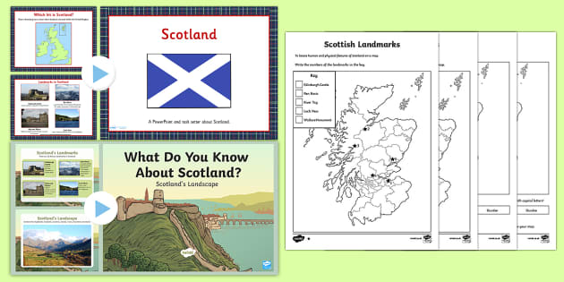 Scotland Lesson Teaching Pack - united kingdom, geography, scots
