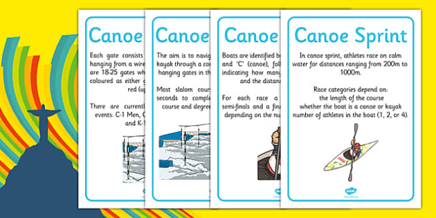 Rio 2016 Olympics Canoeing Display Facts - rio 2016, riol olympics, 2016 olympics, canoeing, display facts