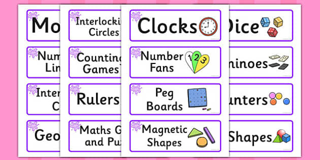 Purple Themed Editable Maths Area Resource Labels - Themed maths resource labels, maths area resources, Label template, Resource Label, Name Labels, Editable Labels, Drawer Labels, KS1 Labels, Foundation Labels, Foundation Stage Labels, Teaching Labe