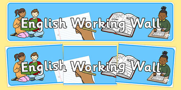 English Working Wall Banner - english working wall banner, english wall banner, english display banner, english working wall display banner