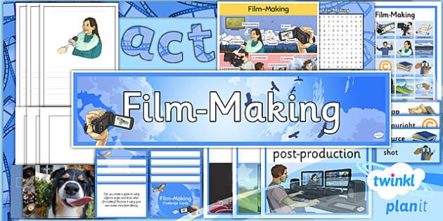 PlanIt - Computing Year 6 - Film-Making Unit Additional Resources - planit, computing, year 6, film making, additional resources