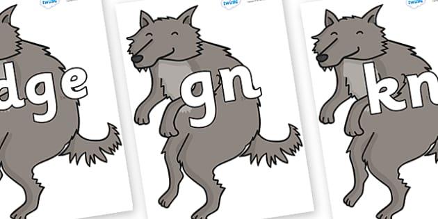 Silent Letters on Wolf - Silent Letters, silent letter, letter blend, consonant, consonants, digraph, trigraph, A-Z letters, literacy, alphabet, letters, alternative sounds