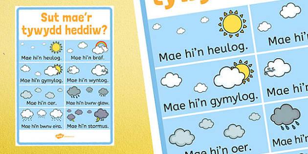 Sut Mae'r Tywydd Heddiw? - Tywydd, Llafaredd, Cymraeg, welsh, cymraeg