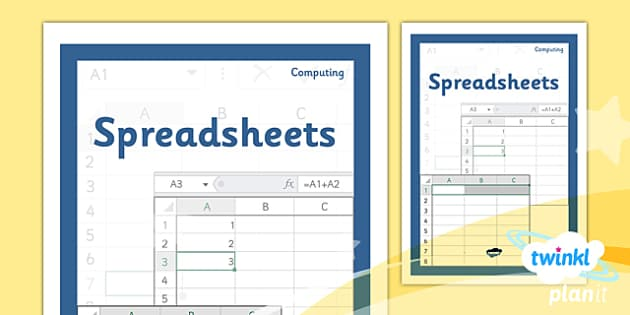 PlanIt - Computing Year 6 - Spreadsheets Unit Book Cover - planit, computing, year 6, book cover, unit, book, cover, spreadsheets