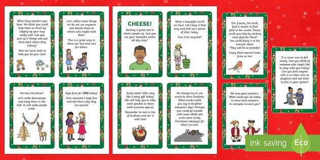 The Kind Christmas Elves Kindness Cards