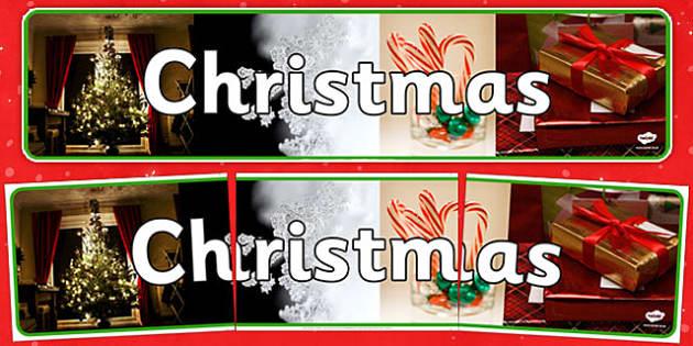 Christmas Photo Display Banner - christmas, photo display banner, photo, display banner, banner, banner for display, themed banner, photo banner
