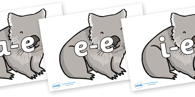 Modifying E Letters on Wombat - Modifying E, letters, modify, Phase 5, Phase five, alternative spellings for phonemes, DfES letters and Sounds