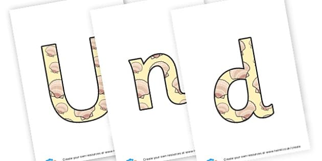 Under the sea - display lettering - Under the Sea Primary Resources, sea, shark, octopus, starfish, seaside shoip