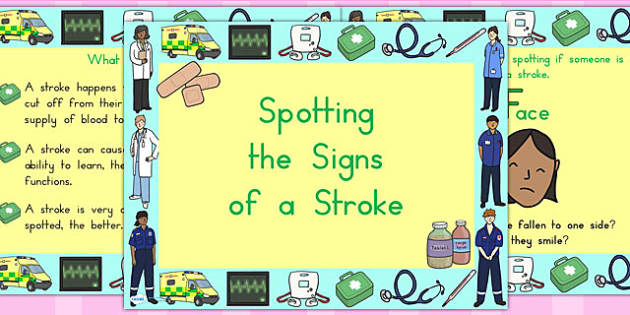 People Who Help Us Sign of a Stroke PowerPoint - hospital, doctor