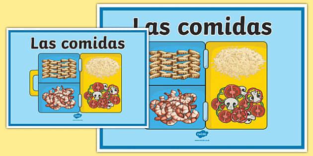 Cartel Las comidas