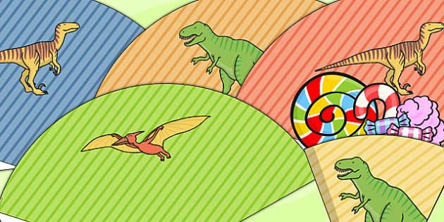 Dinosaur Themed Birthday Party Party Cones - dinosaur, party