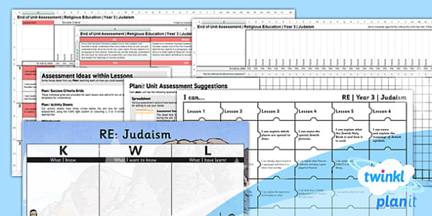 PlanIt - RE Year 3 - Judaism Assessment Pack - planit, re, year 3, religious education, judaism, assessment pack