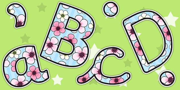 Blossom Themed Display Lettering - blossom, letters, display