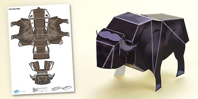 3D Bison Paper Model Activity - 3d bison, paper model, activity, paper craft