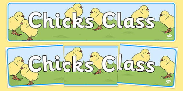 Chicks Themed Classroom Display Banner - Themed banner, banner, display banner, Classroom labels, Area labels, Poster, Display, Areas