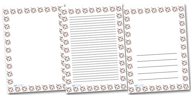 Life Belt Portrait Page Borders- Portrait Page Borders - Page border, border, writing template, writing aid, writing frame, a4 border, template, templates, landscape
