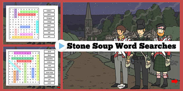 Stone Soup Interactive Wordsearch - stone soup, interactive, wordsearch