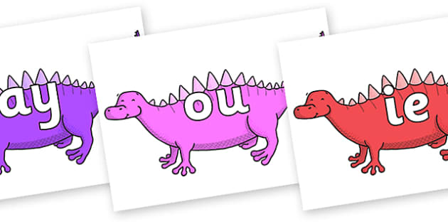Phase 5 Phonemes on Scelidosaurus - Phonemes, phoneme, Phase 5, Phase five, Foundation, Literacy, Letters and Sounds, DfES, display