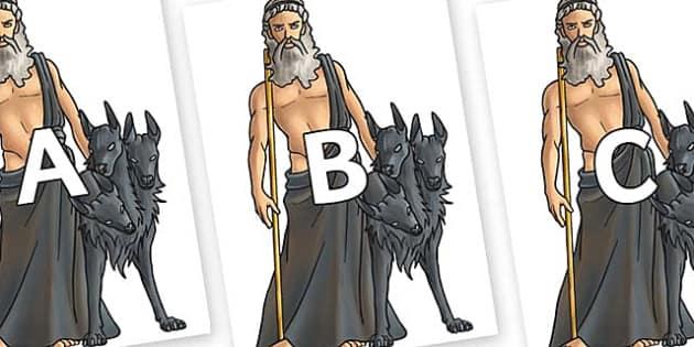 A-Z Alphabet on Hades - A-Z, A4, display, Alphabet frieze, Display letters, Letter posters, A-Z letters, Alphabet flashcards