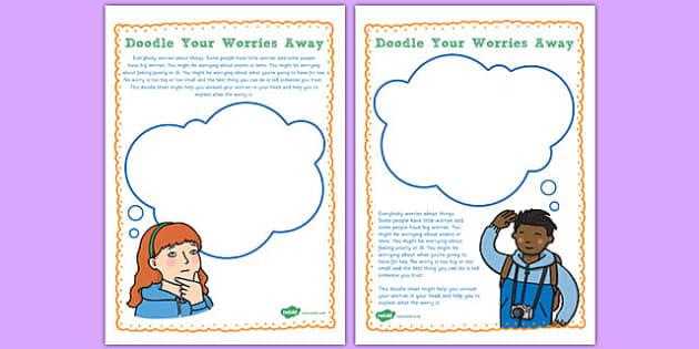 Doodle Your Worries Away - doodle, worries, away, pastoral support, support