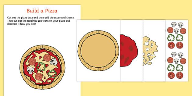 Pizza Parlour Build a Pizza Activity