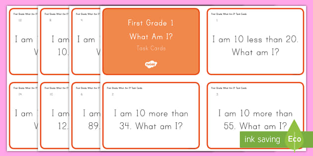 Common Core First Grade Math NBT C 5 Task Cards - Common Core, Addition, Subtraction, Ten Less, Ten More, Number and Operations in Base Ten
