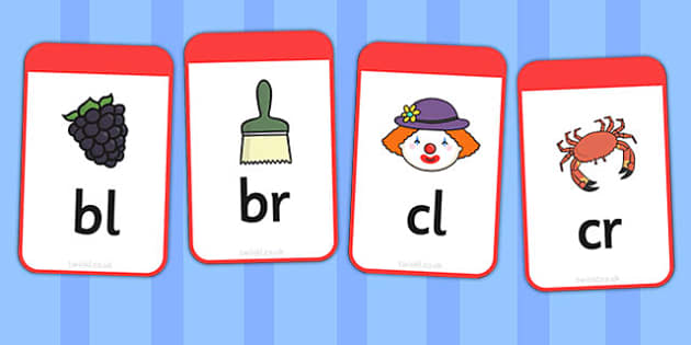 Initial Blends Flashcards - initial, blends, flashcards, cards